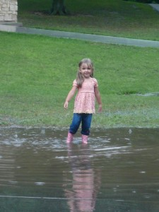 Playing the puddles