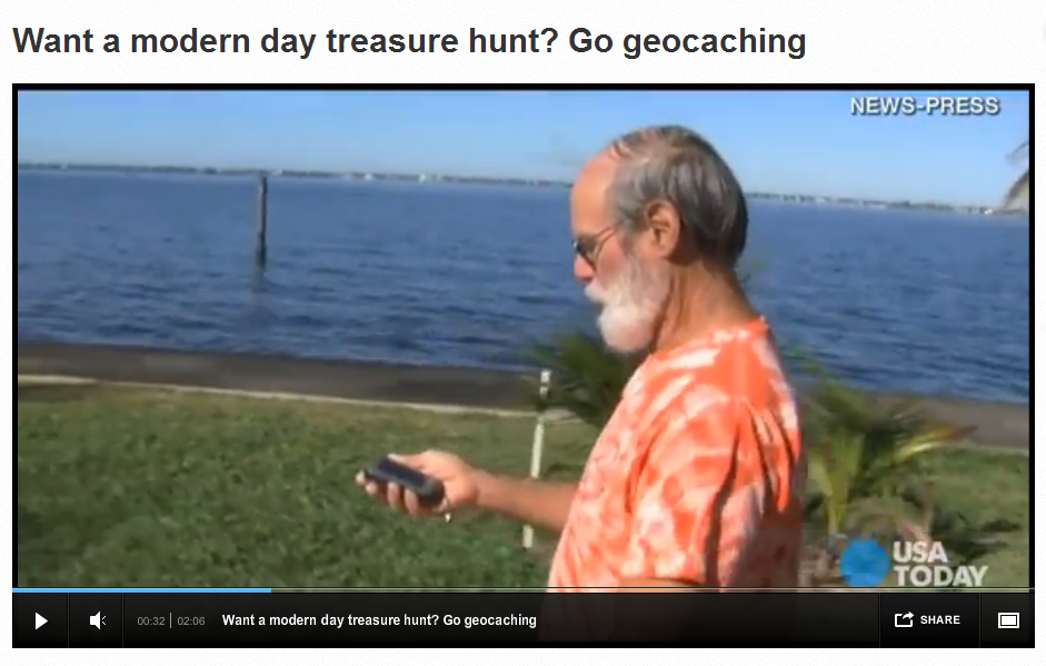USAToday video of Geocaching