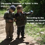 kids geocaching caption contest