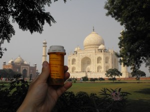 Geocaches can be recycled containers like pill bottles
