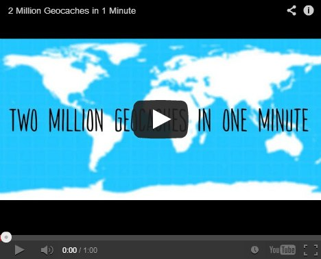 2 million geocaches in 1 minute player image