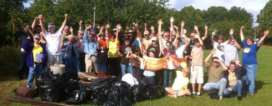 Congrats Space Coast Geocachers... 9 events, More than 200 geocachers and 4300 lbs of garbage collected!