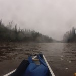 Canoeing in lovely weather.