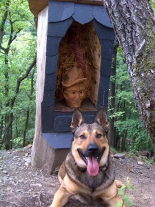 A geo-dog with Schinderhannes. Photo by geocacher Glaubensbruder