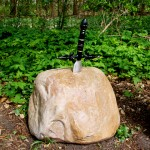 The sword in the stone. Photo by geocacher Lady dreamhummie