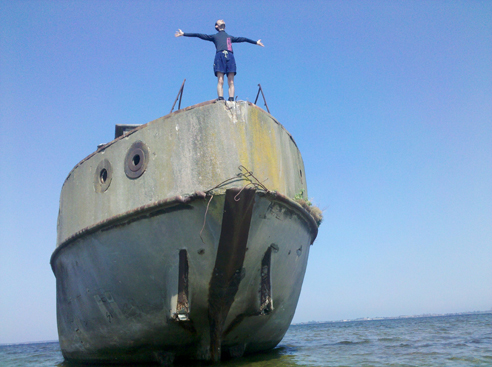 "Classic. ""I'm king of the wooooooorld!"" Photo by geocacher S-Man42"