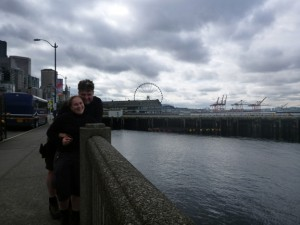 A geocaching team in Seattle on the way to the find. Photo by geocacher SkyTrain
