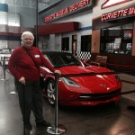 AbbysGrammy admired this 2014 Torch Red Convertible displayed at the lobby while awaiting pickup from its owners, Jim & Kay Gooderham.