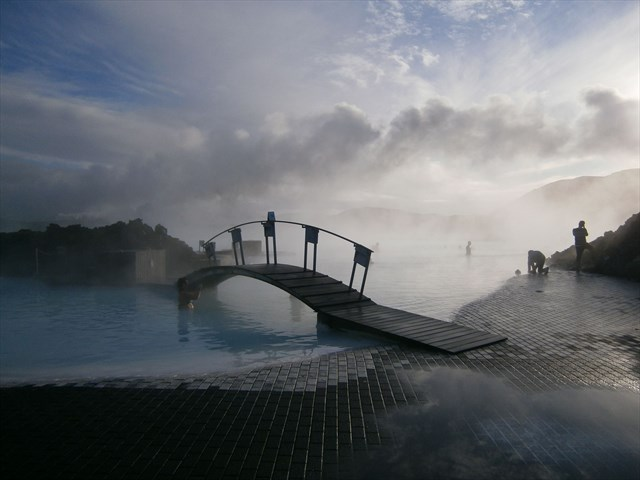 It's like a big baby blue hot tub. Photo by geocacher patch-sooty
