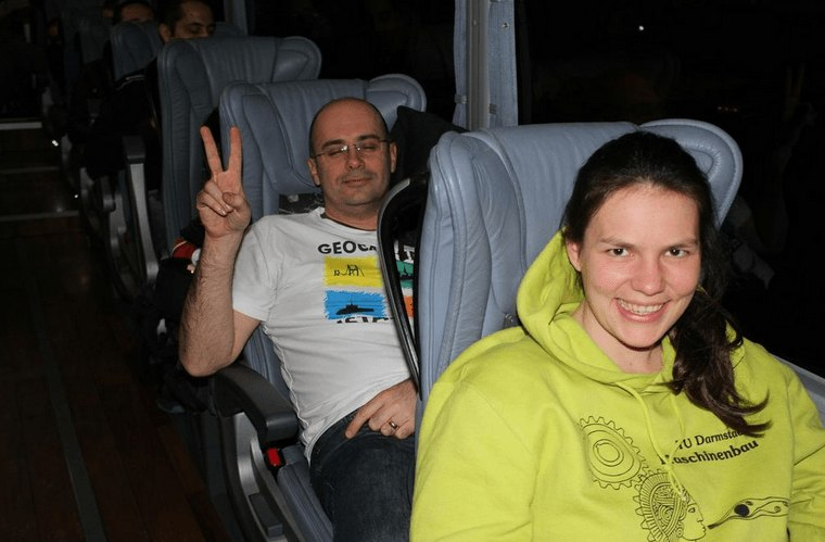 geocachers aboard the Ankara Express
