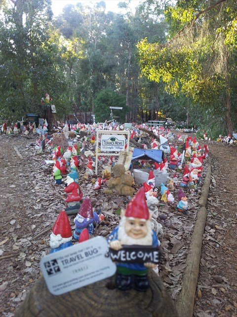Welcome to Gnomesville! Photo by geocacher Crumps