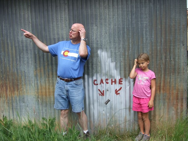 Where oh where could it be? Photo by geocacher 3 Williams Kidz