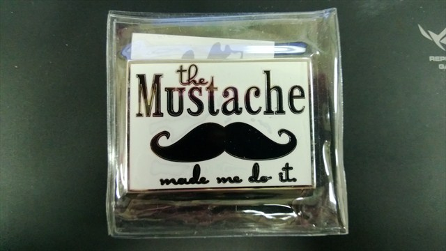 "TB5XQY3  ""the Mustache made me do it"" traveled 3,392 miles before finally landing on the upper lip of its owner."