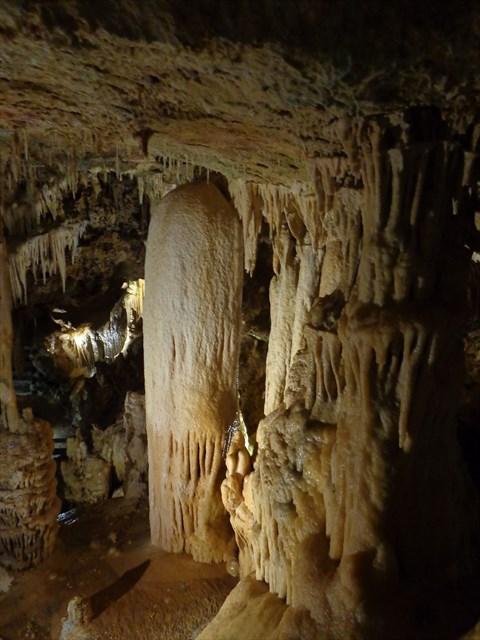 Stalactites and stalagmites.   Photo by geocacher ohjoy!