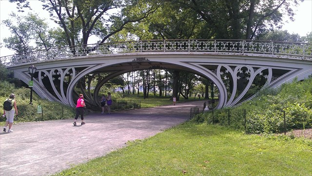 One of the parks many cool bridges. Photo by geocacher guinea gal