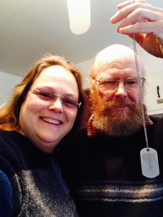 Selfie with dog tags
