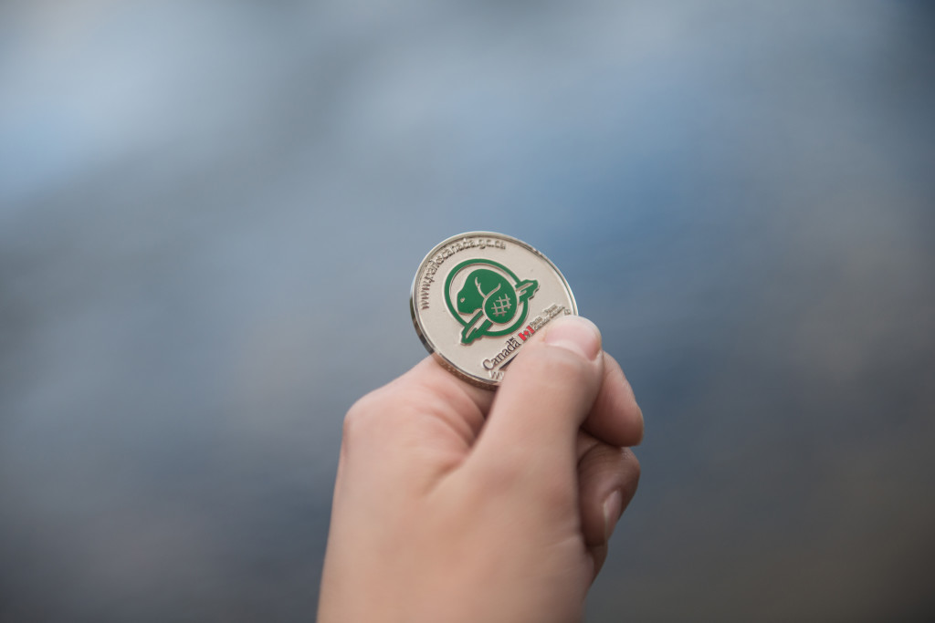 The Heritage Hide'n'Seek geocoin available once you earn 100+ points and submit your passport.