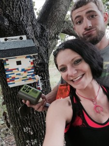 Troopbiz's geocache, Brick By Brick (GC5JB1H), is built completely out of LEGOs!