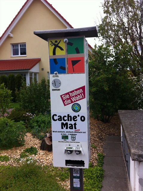 Cache 'o Mat - the geocache vending machine