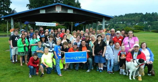 Jared and geocachers at