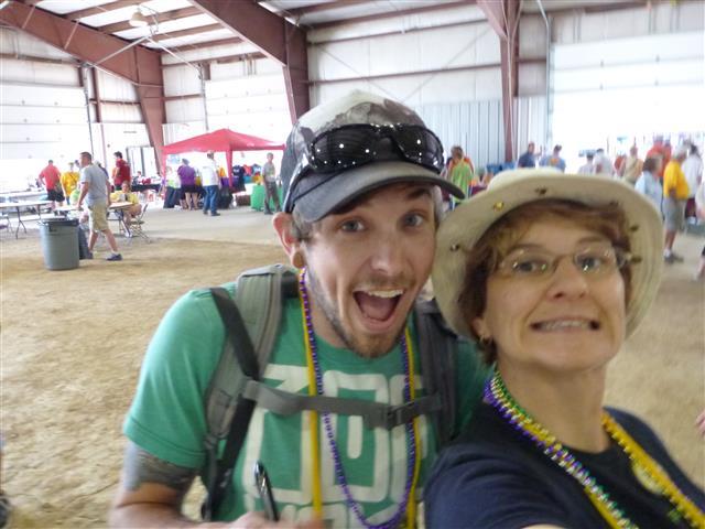 Me (left) with Irene from team geocite.