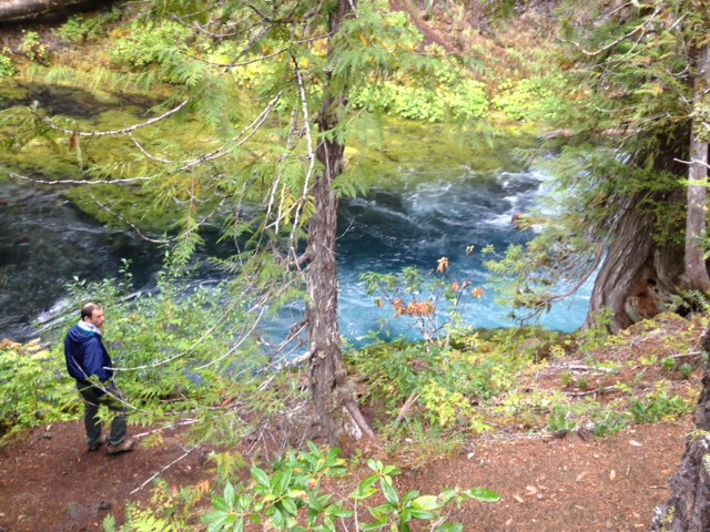 "Near the ""Blue Pool"" on the McKenzie spoke of the Eugene, Cascades and Coast GeoTour"