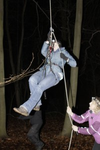 Just a little T5 caching in the middle of the night, NBD. Photo courtesy of Geocaching HQ'er Lebbetter