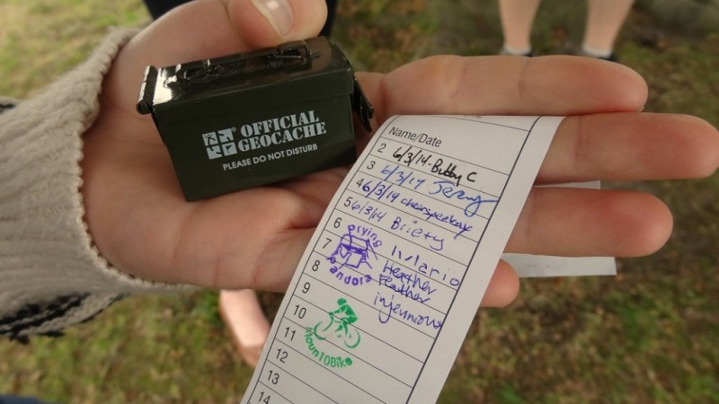 Geocaching Username Log