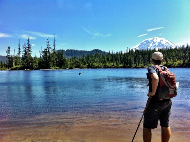 Ben, of benandjayme, surveying the lake.
