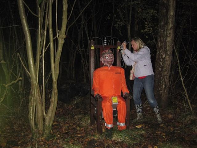 One brave geocacher finds MEGA HERTZ. Photo by Pebbles&Co