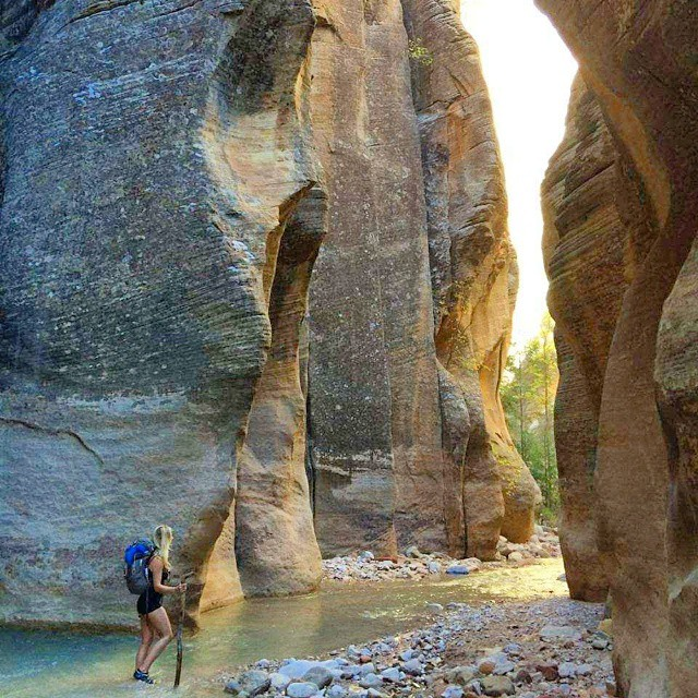 10-7-14 Geocachers, who's up for an extraordinary #hike? The coordinates for EarthCache GCZ5YD in Utah will lead you to the start of the Zion Narrows trail. The rest is up to you.