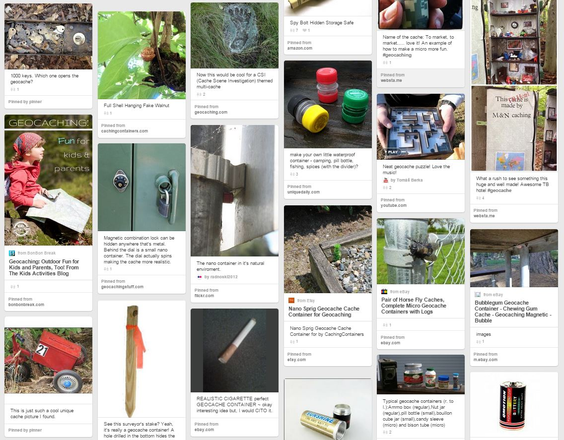 Creative Hides on the Geocaching Pinterest board
