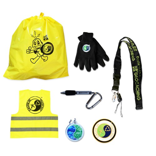 The Geocaching CITO Host Kit includes: 10 Official CITO Trash Bags 1 CITO Vest 1 Pair CITO Work Gloves 1 Standard Lanyard 1 Lanyard Pen 1 CITO Geocoin- Gold 5 CITO Trackable Tags