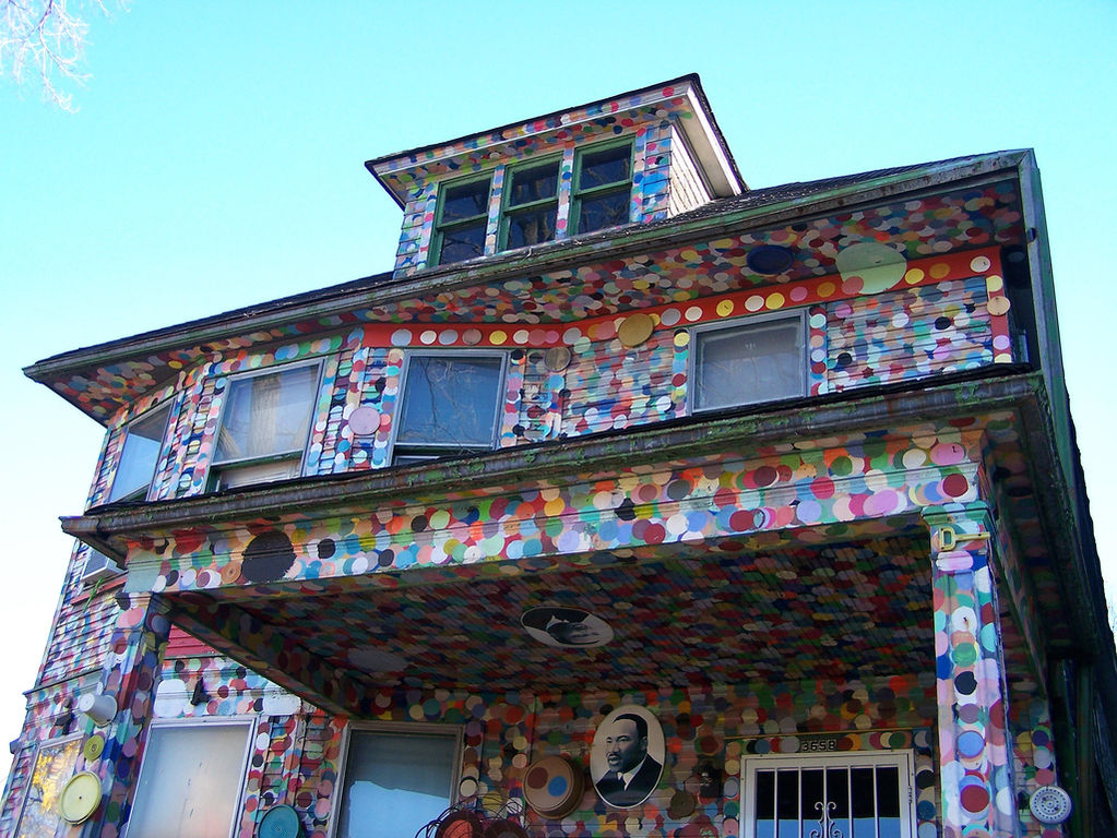 "The ""Dotty-Wotty"" house in Detroit, MI. Part of the Heidelberg Project. Photo Credit paulhitz"