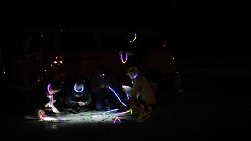 Glow sticks aren't required, but they're still necessary.