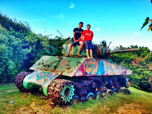 Beaches, geocaches, and tanks...?!