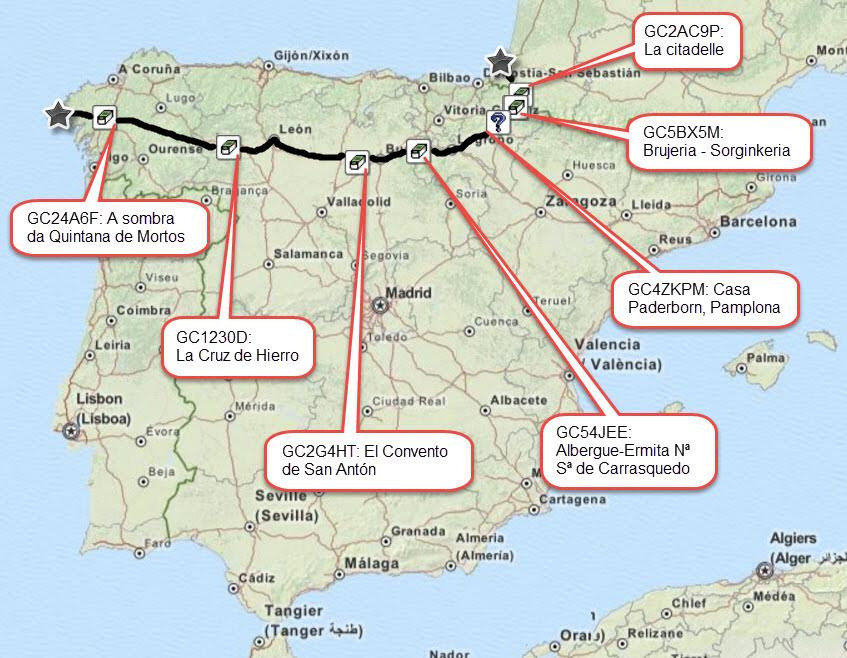 Camino Walk Spain Map.Geocaching Along El Camino De Santiago Spain Official Blog