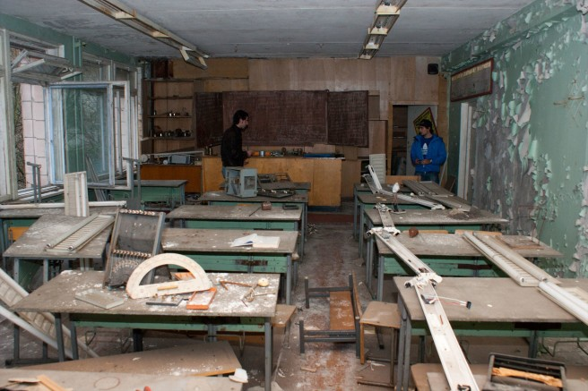 Classroom in Pripyat