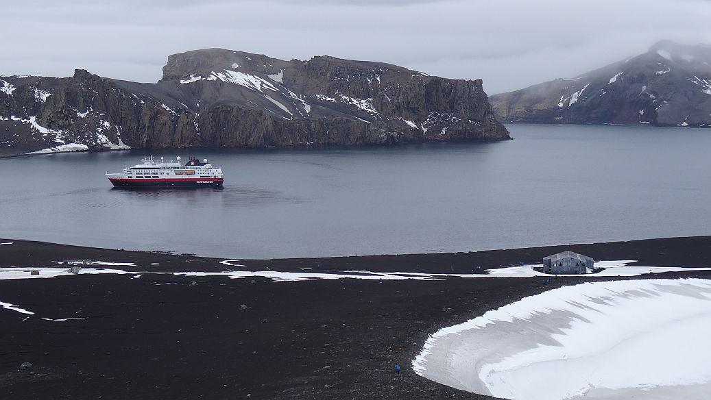 Antarctica Underwater Volcano