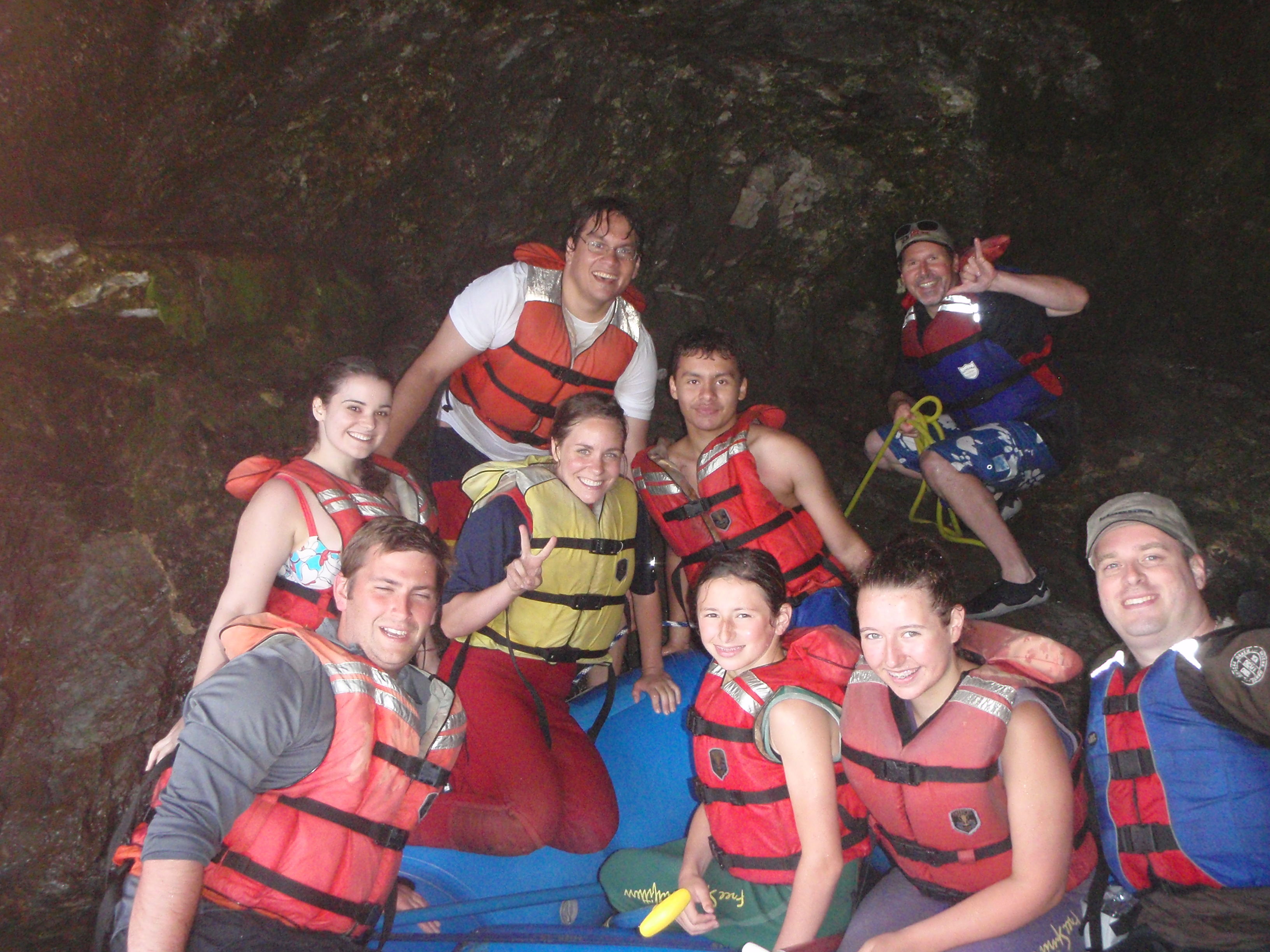 Tom (upper right) with come of the Geocaching HQ crew on a team outing