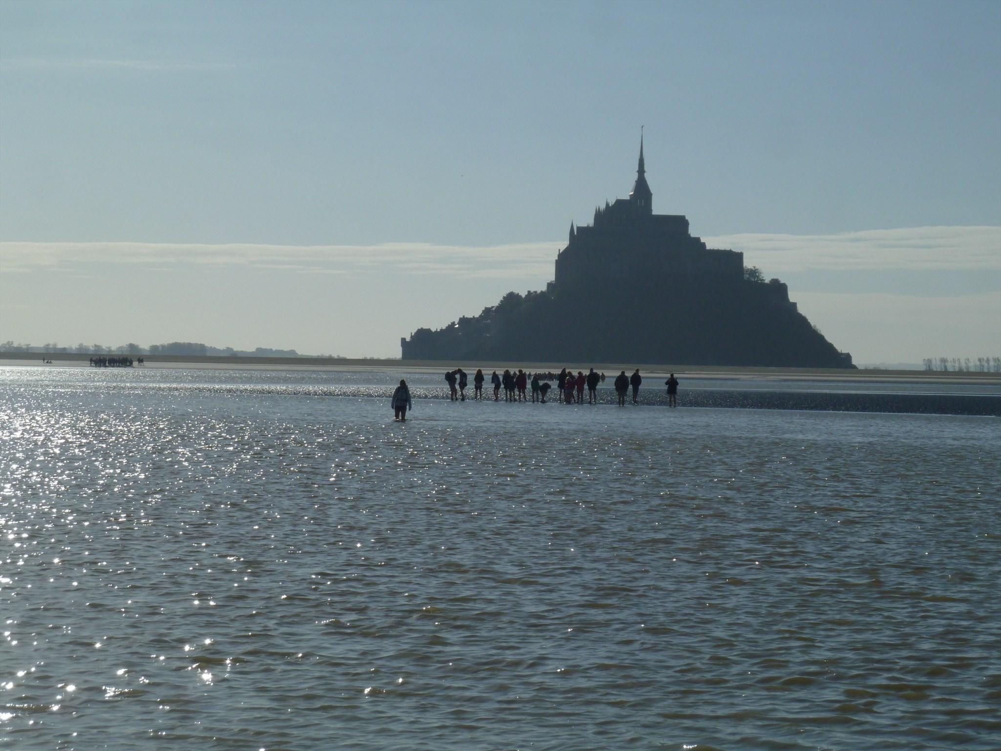 High tide at Le Mont Saint Michel
