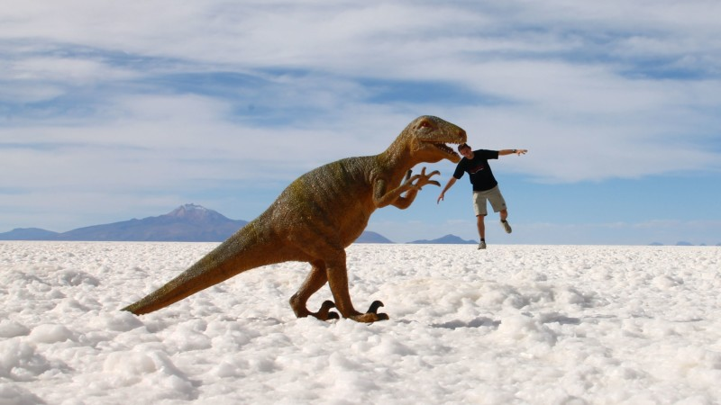 The dinosaurs of the salt flats