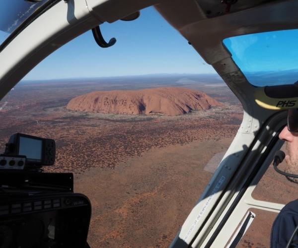Helecopter over Uluru