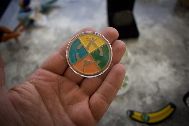 The First Geocoin