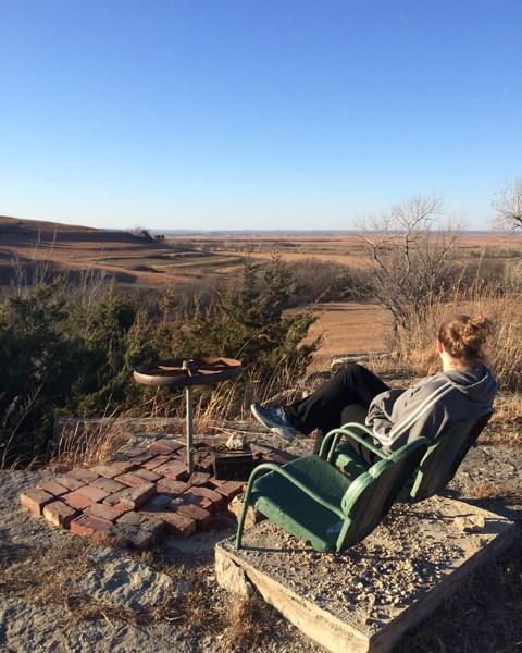 Kansas' tallgrass prairie.