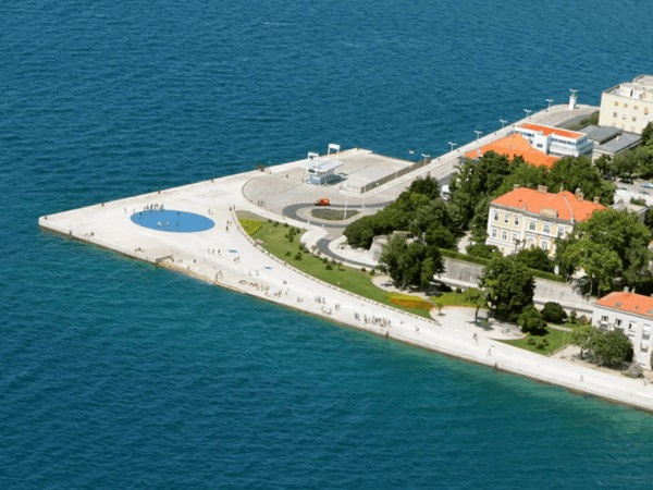 Zadar waterfront from above.