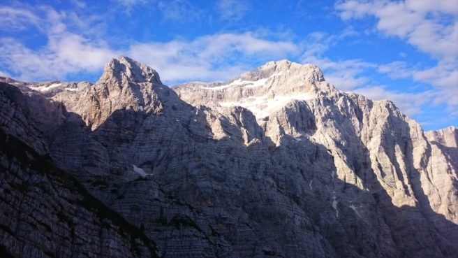 Triglav from below. Photo by Soilworker.