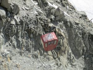 One of the original L'aiguille du midi cable cars from 50 years ago!