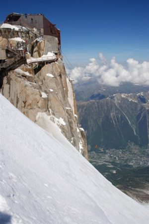 A view of Chamonix from L'Aiguille du Midi