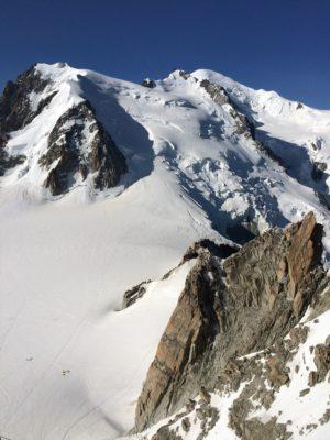 Mount Blanc, highest peak in the Alps